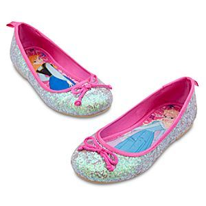 Disney Anna and Elsa Flat Shoes for Girls - Frozen | Disney StoreAnna and Elsa Flat Shoes for Girls - Frozen - She'll always step into adventure wearing our Frozen Flat Shoes for Girls, featuring silvery glitter uppers, satin trims and lovely Anna and Elsa art on the insoles.: Disney Stores, Silver Glitter, Sparkle Ballet, Frozen Disney, Stores Frozen, Frozen Princesses, Flats Shoes, Ballet Flats, Disney Frozen