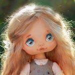 """413 Likes, 44 Comments - Создаю текстильные куклы (@vodnat) on Instagram: """"Каждый раз разные. На этот раз глазки прям,как у оленёнка Бемби. Кстати, есть одна маленькая…"""""""