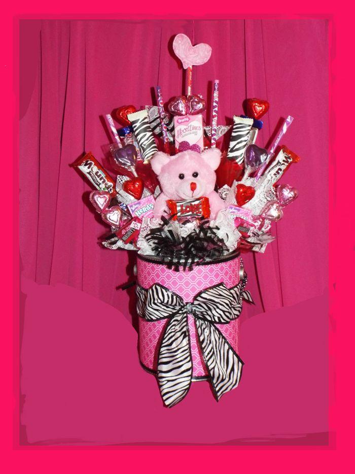 310 best Valentine bouquets images on Pinterest | Candy bouquet ...