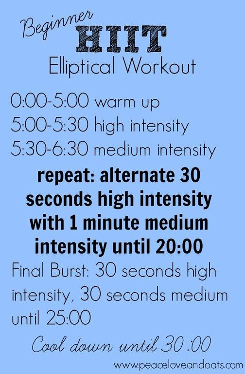 Beginner HIIT Elliptical Workout