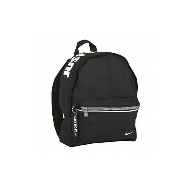 cb84cd2283 Nike Just Do It Mini Backpack Black ❤ liked on Polyvore featuring bags