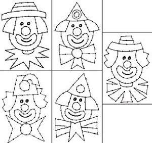 Borduurkaarten clowns
