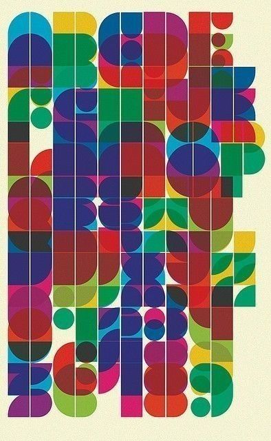 Great 70's alphabet of colour.