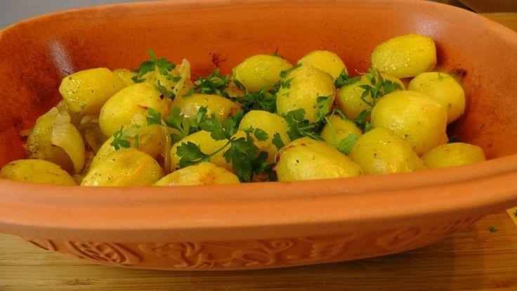 Geschmorte Kartoffeln im Römertopf on http://derbiokoch.de