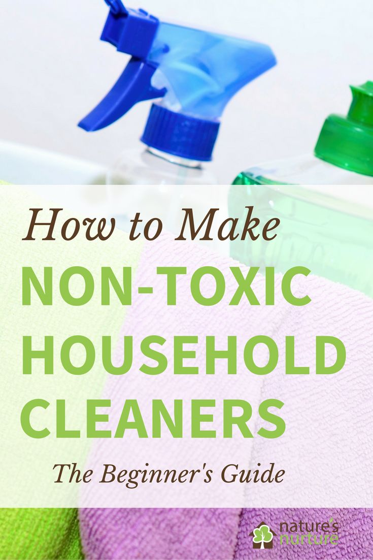 The beginner's guide to making your own homemade non-toxic household cleaners. Rid your home of harmful chemicals, one cleaning product at a time.