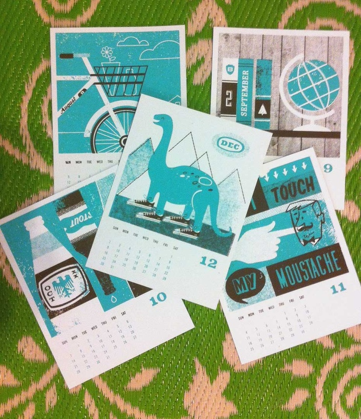 Basemint Japan-inspired 2012 Year of the Dragon hand-screened calender $26  *free shipping w/code ARIGATO