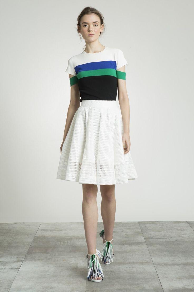 Trendy Online Clothing Store | AMENPAPA Mesh Flared Skirt w/ Back Zip - Bottoms - Women