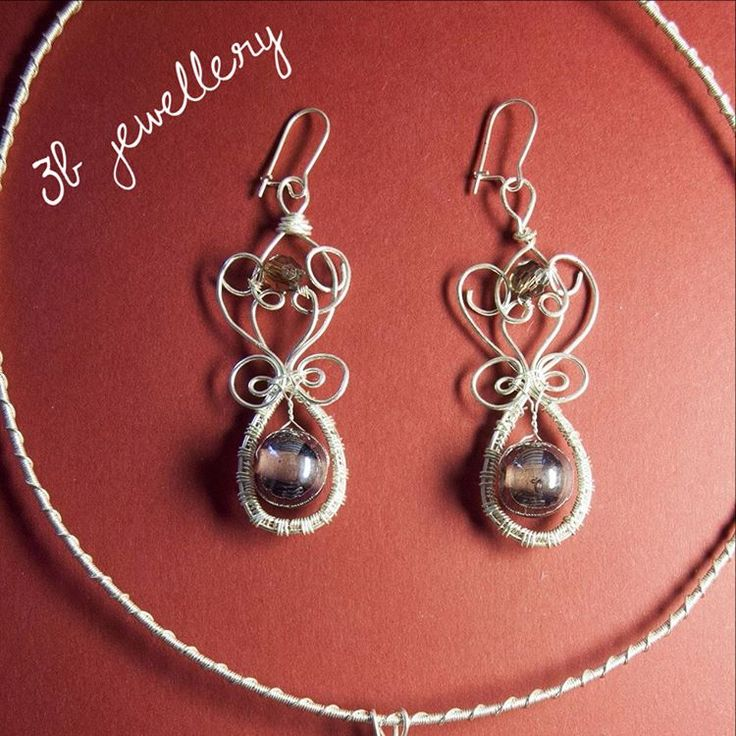 #baroque #inspired #earrings go well with baroque #pendant #3bjewellery #wirewrapping #beginner
