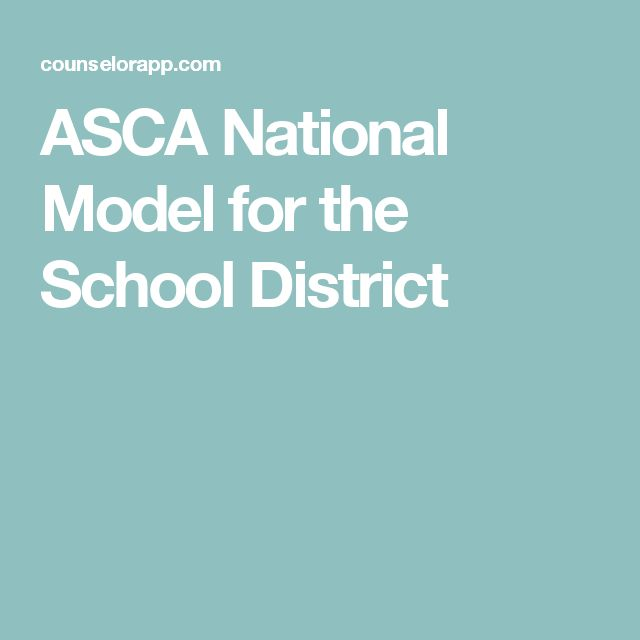 ASCA National Model for the School District