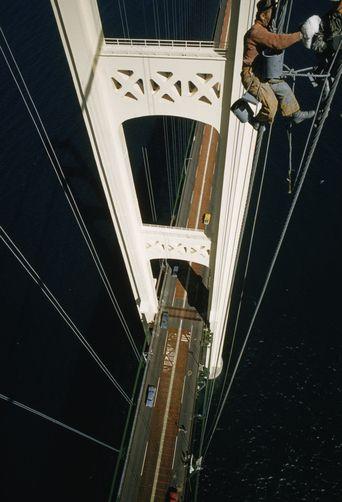 Painting the Mackinac Bridge