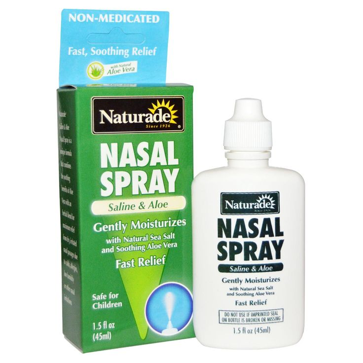Naturade, Nasal Spray, Saline & Aloe, 1.5 fl oz (45 ml) - iHerb.com