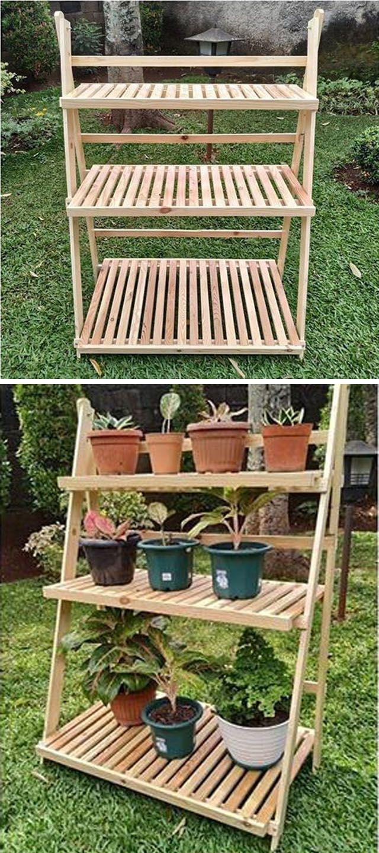 Pallet Garden Shelf Projects Pallet Diy Garden Shelves Diy Pallet Projects