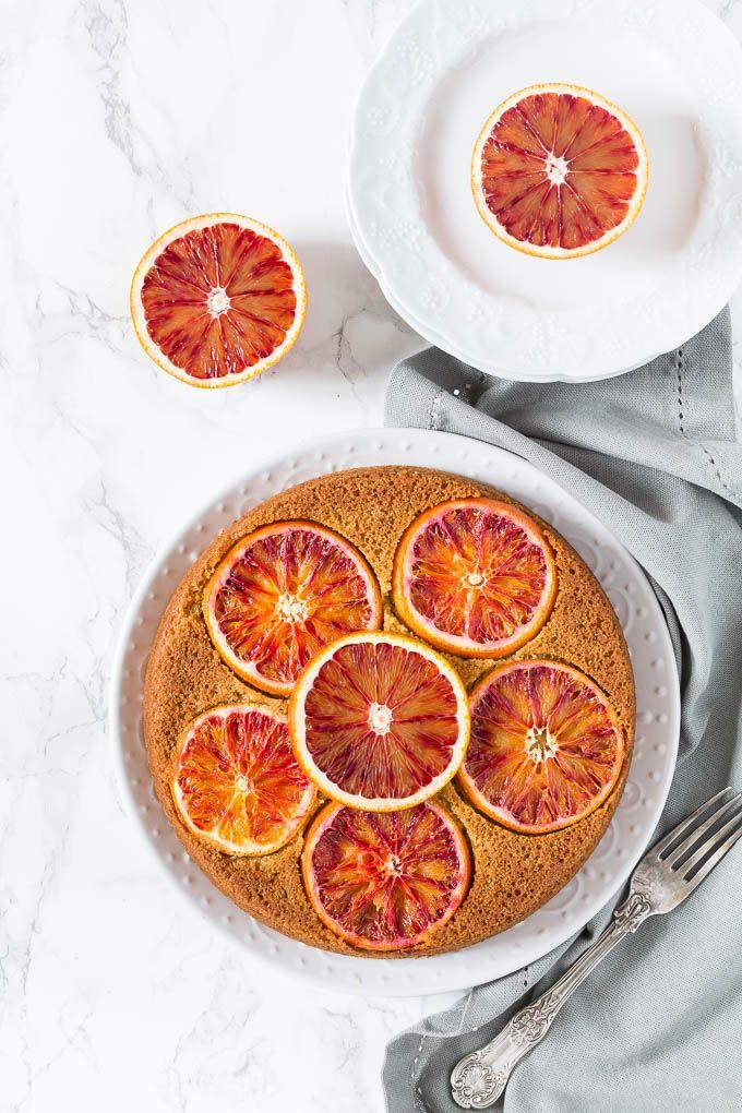 Olive Oil, Cardamom and Blood Orange Polenta Cake // blood orange, coarse polenta, plain flour, ground cardamom, baking powder, bicarb soda, almond milk, blood orange juice, olive oil, maple syrup