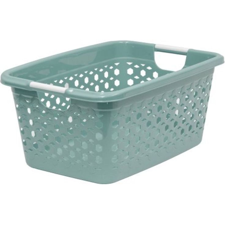 Home Logic 1.5 Bu High Gloss Finish Linked Impressions 3D Textured Laundry  Basket With