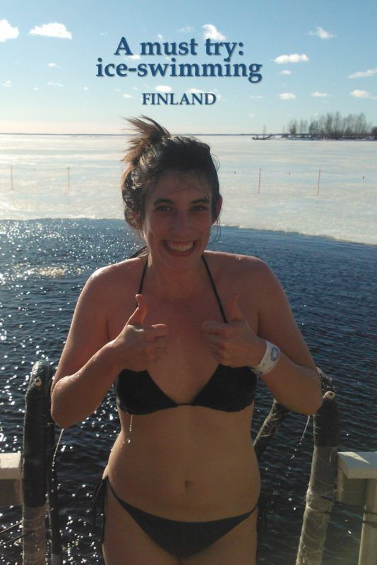 Ice-swimming: a must try activity in Finland
