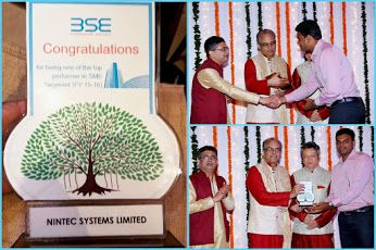Proud Moment: NINtec Systems Ltd. (Gateway Group) has received Top Performing Company Award (FY 2015-16) from Bombay Stock Exchange (BSE-SME)!
