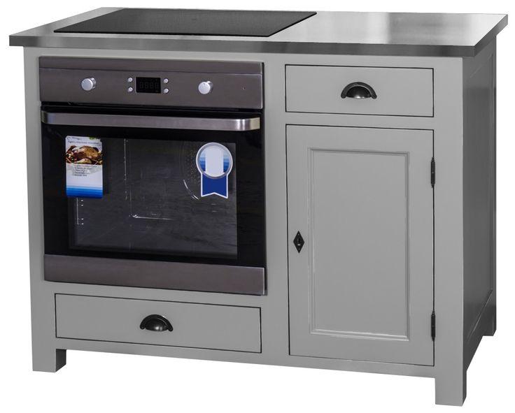 Ce module vous permettra de combiner espace de cuisson (plaque et four) et rangements spacieux. En effet, en plus de son trou d'intégration sur le plateau et de la niche présente, ce meuble possède 2 tiroirs et 1 porte.