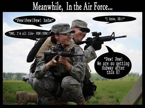 We can put the Army vs Marine debate to rest for a while and pick on the Air Force!