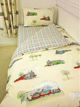 Steam Train Bedding Boys Bedroom Pinterest Single