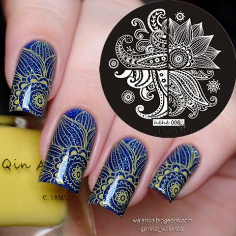 Flower Leaves Nail Art Stamp Template Image Plate hehe006