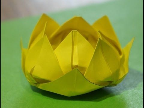 Step by step origami for beginners Water Lily (Lotus Flower) - YouTube