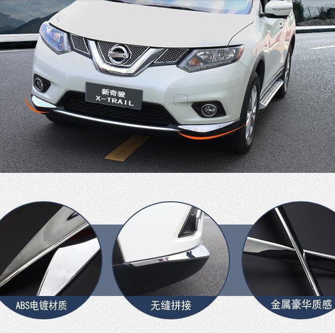 lane legend ABS Chrome Front Bumper Corner Protector Cover Trim case for 2014-16 Nissan X-trail XTrail T32 Rogue Car Accessories #Affiliate