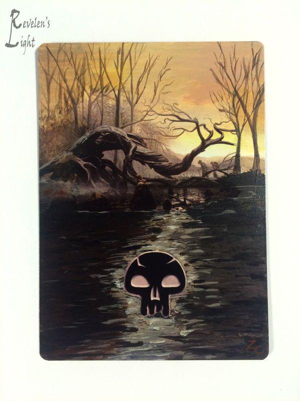 Swamp - Full Art Land - MTG Alter - Revelen's Light Altered Art Magic Card