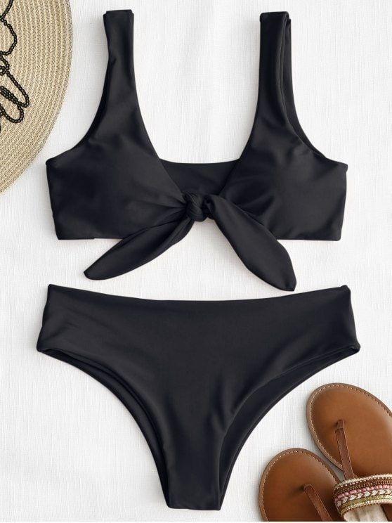 a347e12a1c1f Up to 80% OFF! Front Knot Padded Bikini Set. #Zaful #Swimwear #Bikinis zaful ,zaful outfits,zaful dresses,spring outfits,summer dresses,easter,super  bowl,st ...