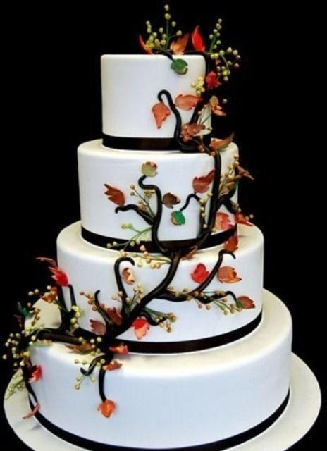 Love this cake! Would want navy blue to circle bottom of each layer with cranberries to keep to my color palette (navy blue, burnt orange, cranberry red, chocolate brown, champagne)
