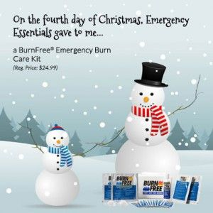 Emergency Essentials 12 Days of Giveaways-Day Four: BurnFree Kit