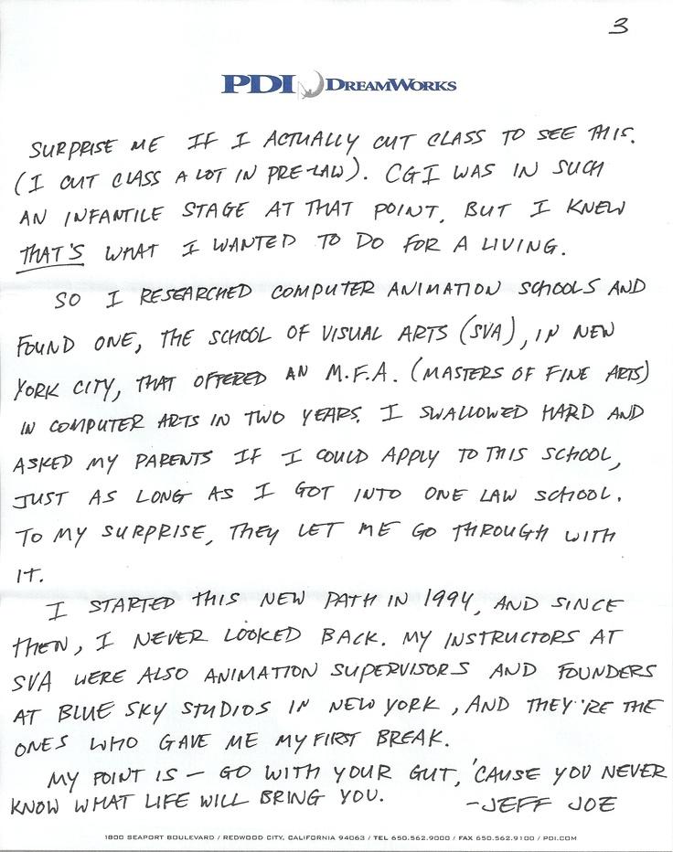 dreamworks cover letter