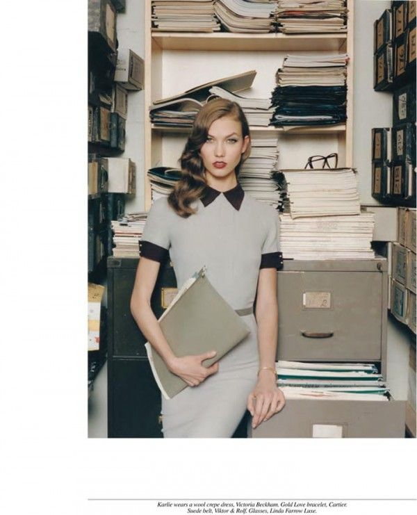 Self Service's Office Tease Karlie Kloss