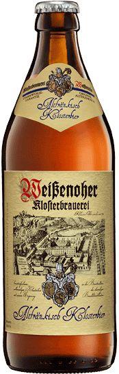 Cerveja Altfränkisch Klosterbier, estilo Keller/Zwickel, produzida por Klosterbrauerei Weissenohe, Alemanha. 5.1% ABV de álcool.