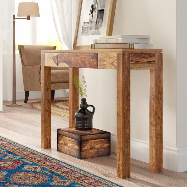 Spurlock 42 Solid Wood Console Table Wood Console Table Wood Console Reclaimed Wood Console Table