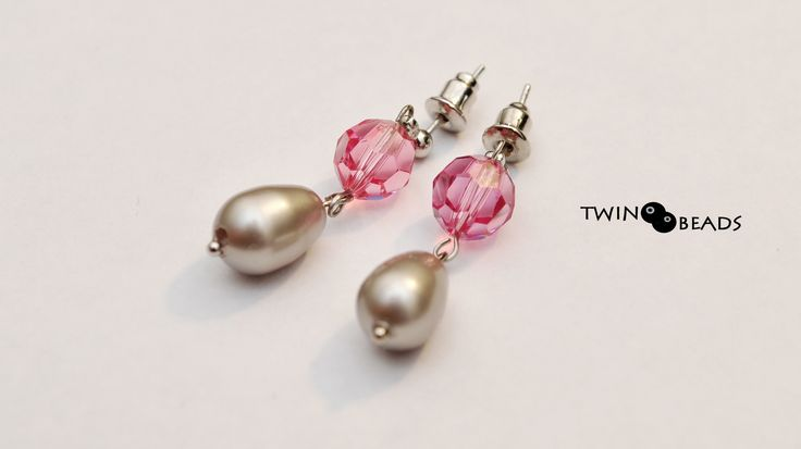 swarovski and pearls earrings