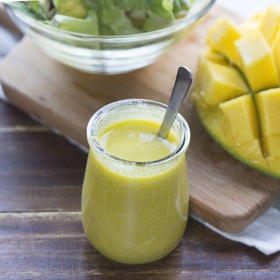 Cómo preparar vinagreta de mango para ensaladas con Thermomi