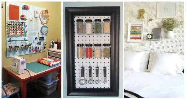 15 Idées de rangements pour toute la maison à faire avec des panneaux perforés