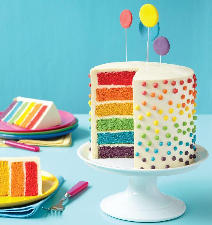 Best 25 Easy rainbow cake recipe ideas on Pinterest Rainbow
