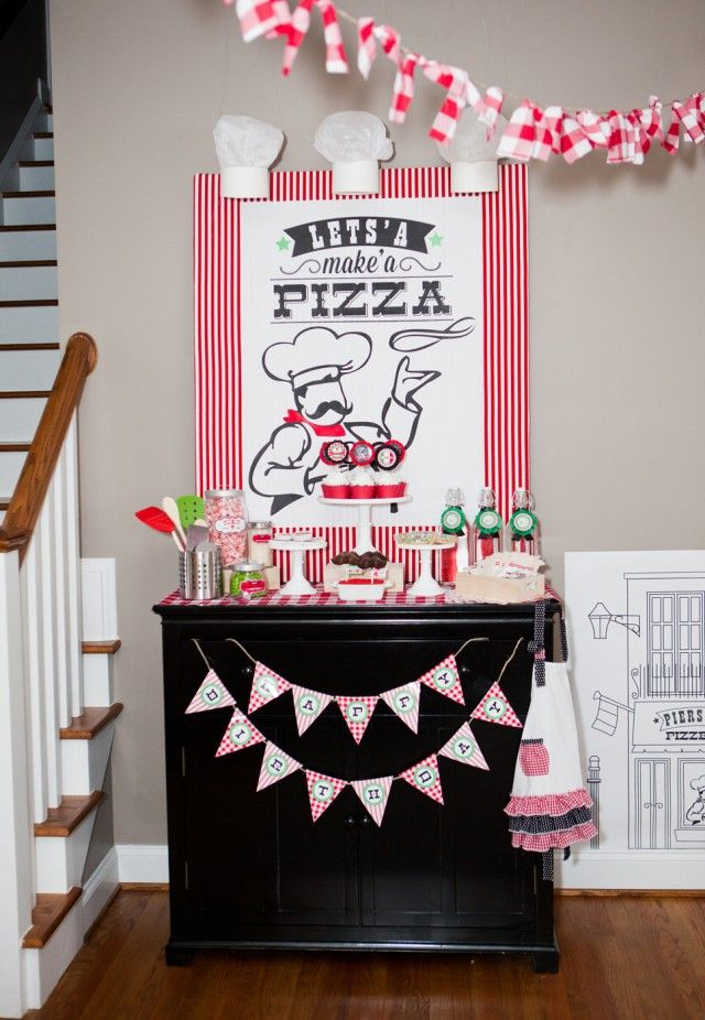 Pierson's Pizzeria! Little Chef Pizza Birthday Party