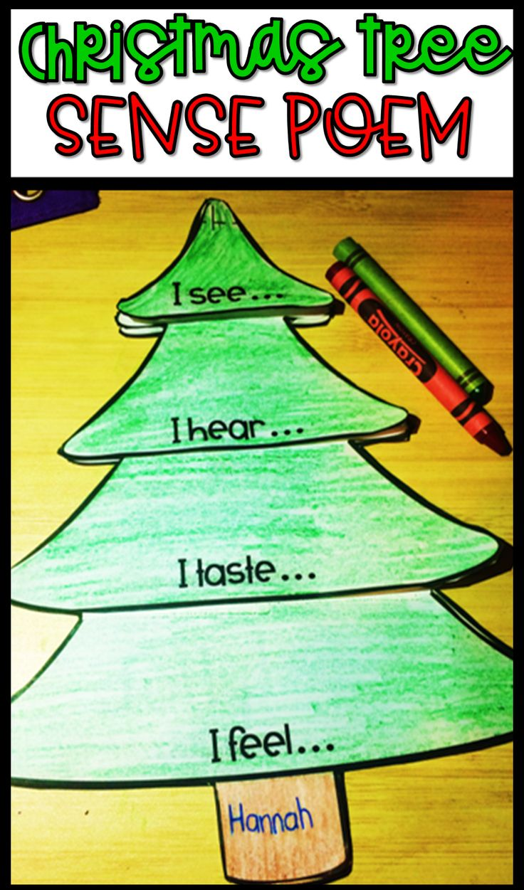 Christmas writing activities! Practice writing with this interactive sense poem