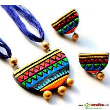terracotta jewellery designs for sarees - Google Search