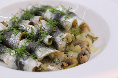 Ninnin Köökki: Baltic herrings with leak and mushrooms