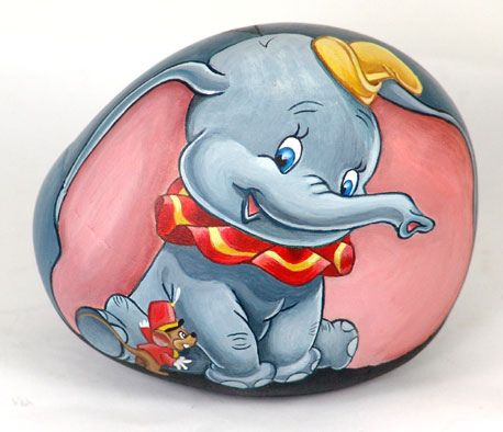 Dumbo  Disney's Dumbo acrylic on rock     All rights reserved  Uploaded on Apr 27, 2009
