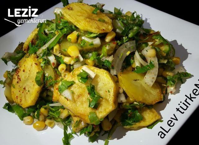 Pratik Patates Kızartması Salatası