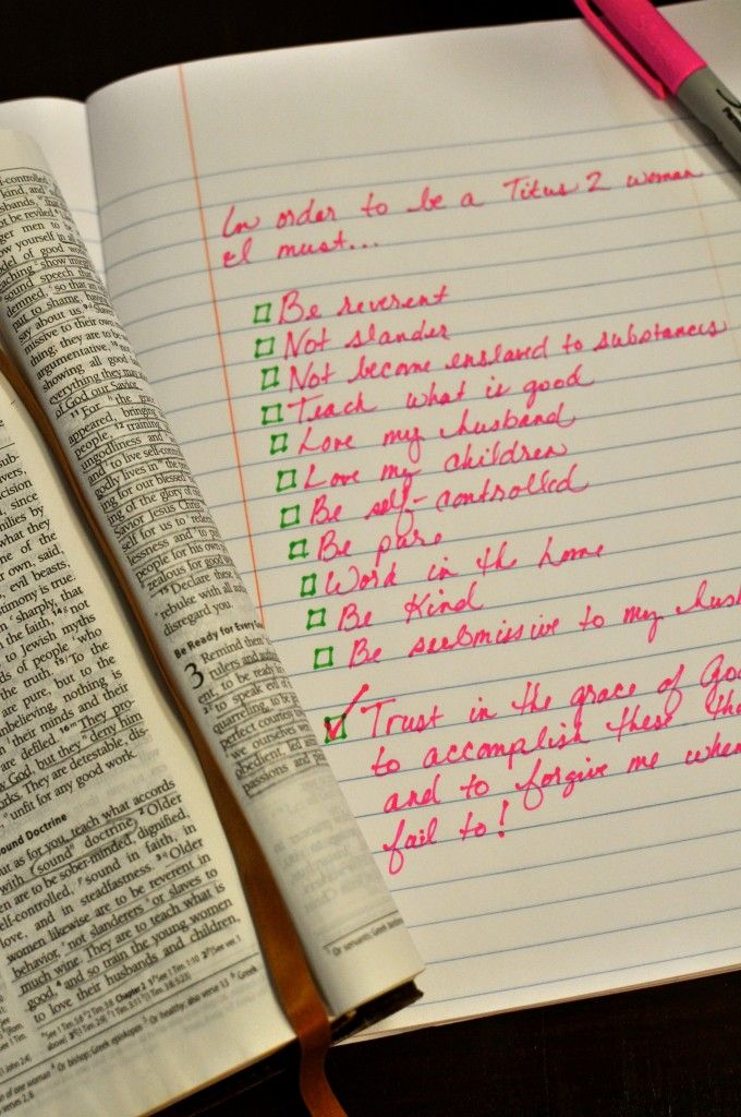 The Check List of a Titus 2 Woman {Desiring Virtue}