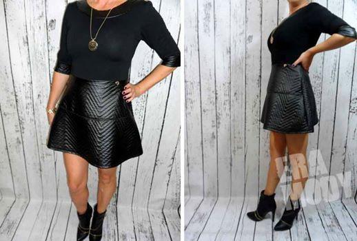 PROMOCJA!!    UNIKATOWA Sukienka PIKOWANA Eko Skóra stylowa czerń  http://allegro.pl/new-oryginal-sukienka-pikowana-eko-skora-promocja-i4939194558.html