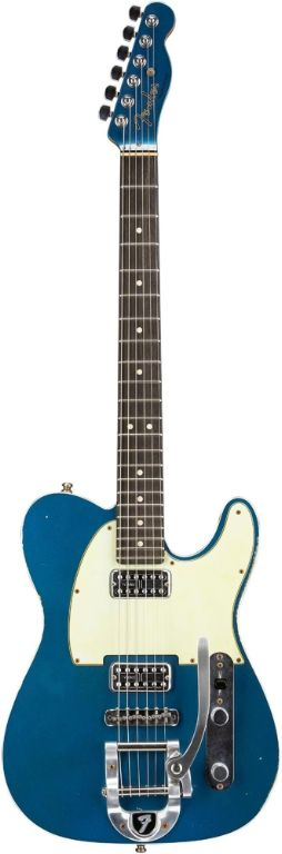 Fender Custom Shop Double TV Jones Relic Telecaster w Bigsby Aged Lake Placid Blue