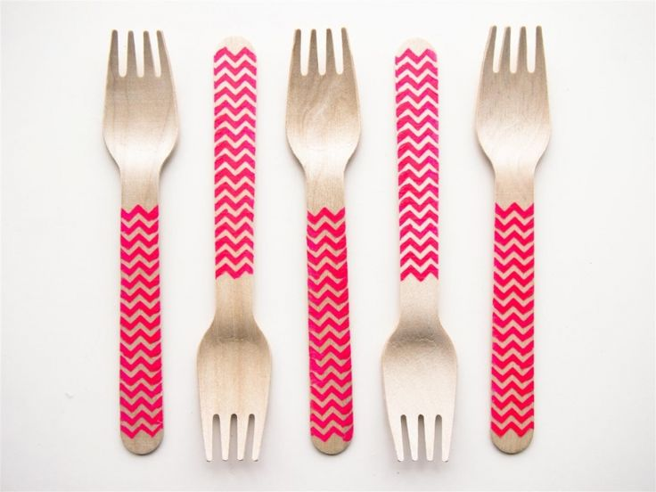 Party forks | Zigzag neon roze | ♥ THEMA: it's Party time! | Dreamkey Design