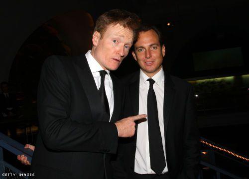 Conan O'Brien and Will Arnett! Love!