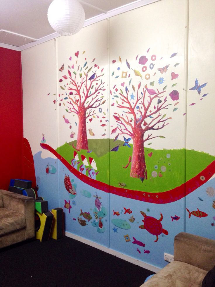 Djeco inspired wall mural